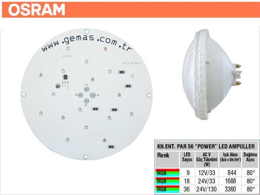 OSRAM Rainbow Par 56 Kendinden Entegreli Power Led Ampul